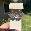 3.93ctw Ceylon Sapphire and Diamond Bee Motif Earrings 5