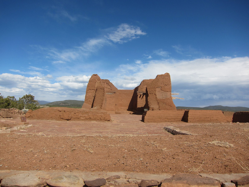 Remains of 18th century Spanish church.