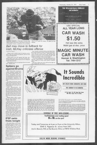 Daily Trojan, Vol. 68, No. 26, October 22, 1975