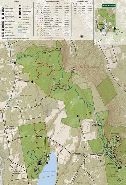 John Boyd Thacher State Park (Trail Map - North)
