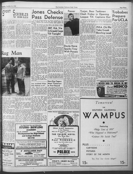 Daily Trojan, Vol. 30, No. 23, October 18, 1938