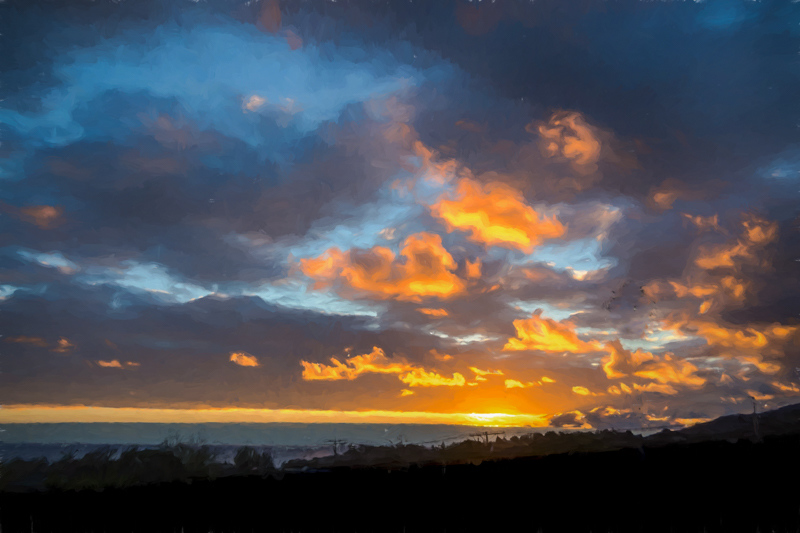 November 2 - Autumnal sunset before a little rain, Los Angeles.jpg