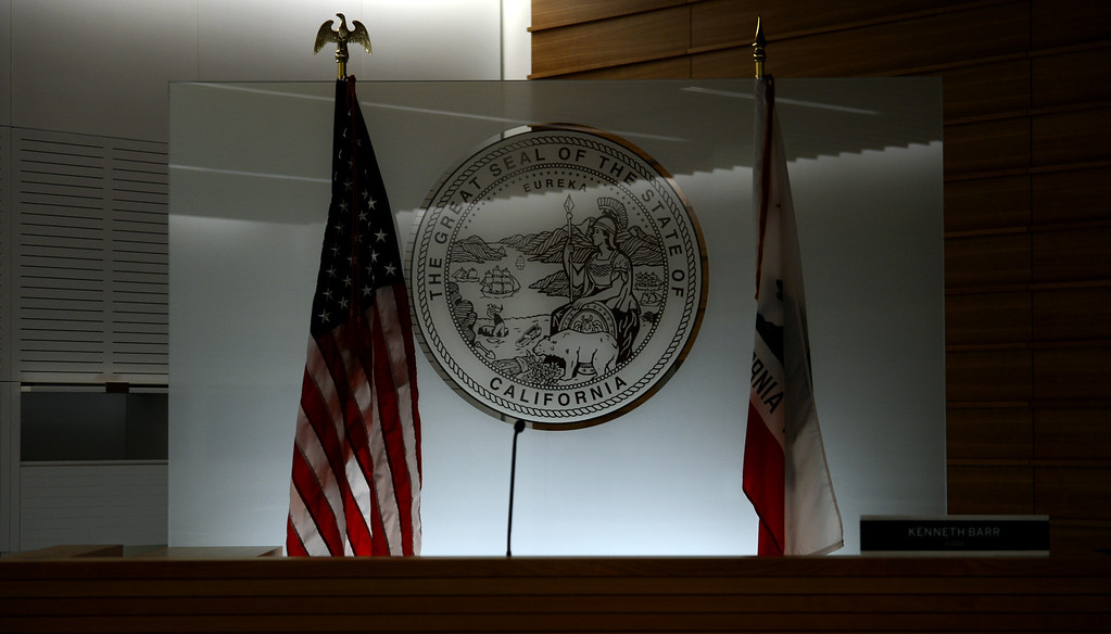 . The new San Bernardino Justice Center in downtown San Bernardino, CA, Monday, April 28, 2014. (Photo by Jennifer Cappuccio Maher/Inland Valley Daily Bulletin)