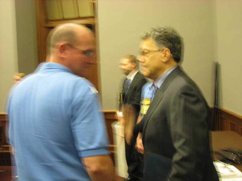 I had one job. ONE JOB: Get a good photo of Byron with Senator Franken.  Fail. Sorry Byron!