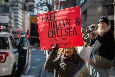 Free Julian Assange, New York City, Februrary 24