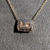 'For You I Live' 18kt Rose Gold Cast Rebus Pendant, by Seal & Scribe 15