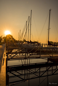Escanaba Sailing Vessels at Dawn