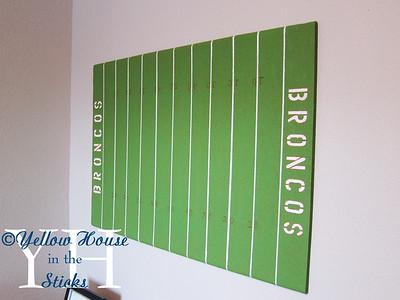 Football Field Cork Board