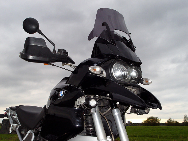 """Ton's (aka ECM) modified / customised 2004 BMW R1200GS I like this bike and I like music, especialy Pink Floyd and their timeless album Dark Side of the Moon...."""" The full story of Ton's custom Pink Floyd R1200GS HERE"""