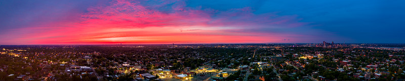 Pink and blue sunset over Saint Louis, May 2020