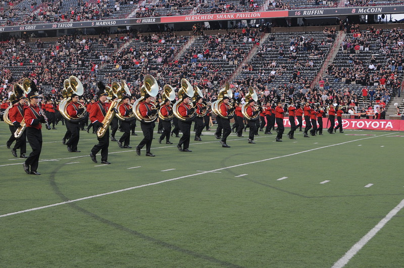 UC Marching Band, UC vs. Pitt, Nippert Stadium, Cincinnati, OH