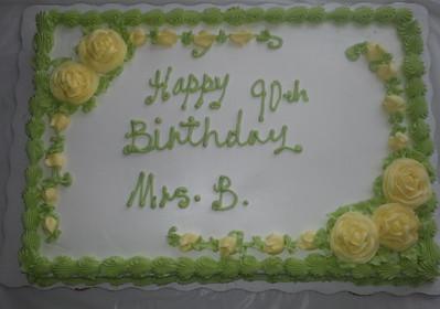 Mrs. Basarab - 90th Birthday