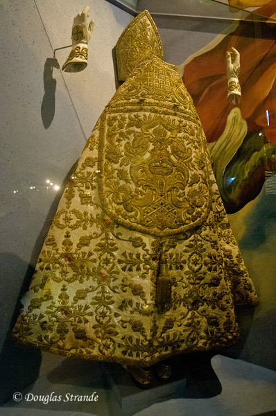 Ceremonial garb with gold and jewels at Melk Abbey