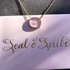 'Paix a Mon Amie' Glass Pendant, by Seal & Scribe 18