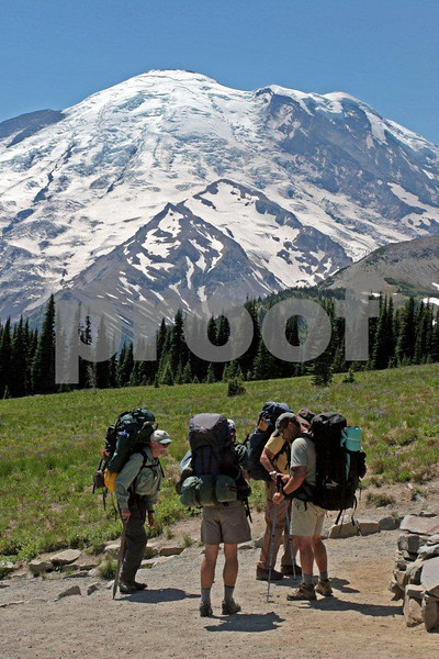 Mt. Rainier, Sunrise, hikers  1129.jpg