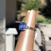 Vintage-Inspired and Contemporary 3.03ct Blue Sapphire Ring (GIA, No-Heat)) 11