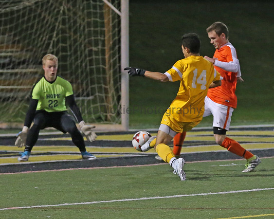 Adrian College vs Hope MIAA tournament men's soccer