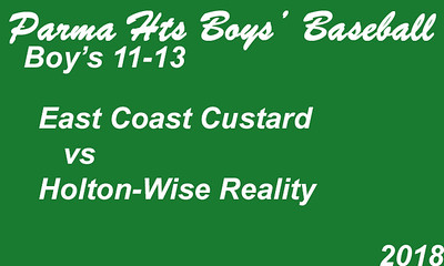 180618 Parma Heights Boy's 11-13 Baseball Powers Field