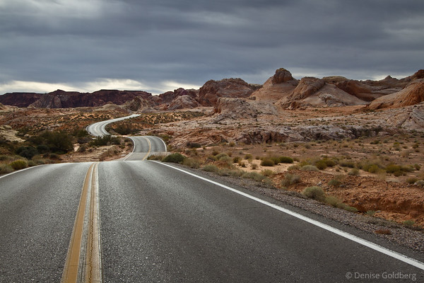 Valley of Fire, Lake Mead, and a dam