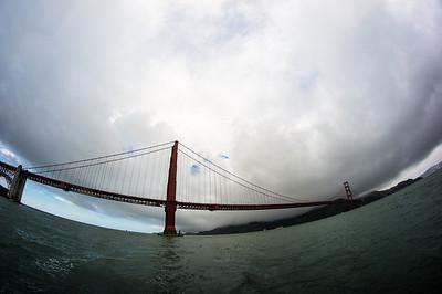 Fisheye under the Golden Gate