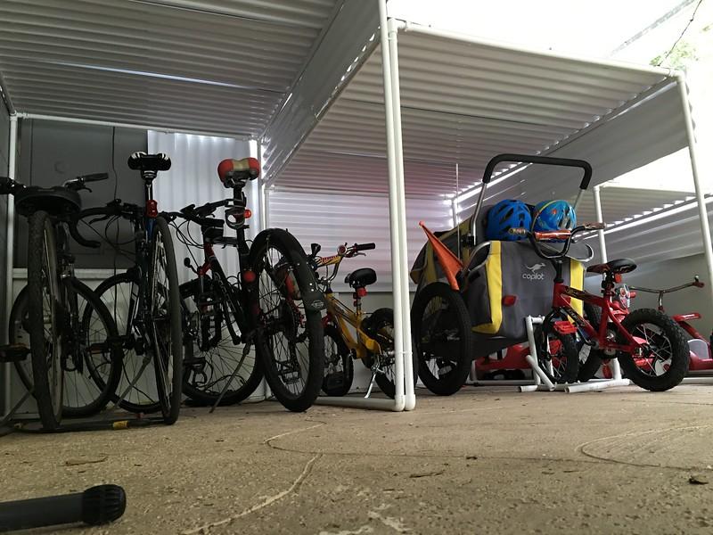 bikes in the rack