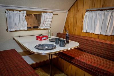1964 Coachman Cadet 15' Trailer Interior Dinette
