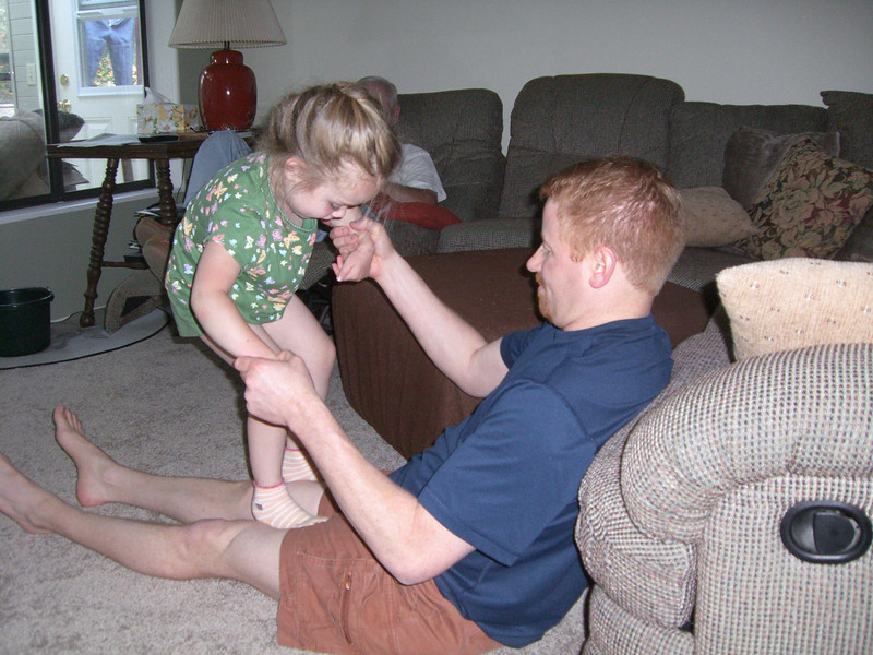 More playing with uncle Chad.