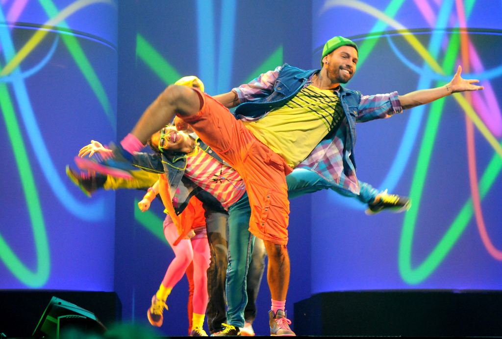 . Dancers wearing outfits from Macy\'s mstylelab department perform during the dress rehearsal for the annual Macy\'s Glamorama event at the State Theatre in Minneapolis on Friday August 2, 2013.  (Pioneer Press: Jean Pieri)