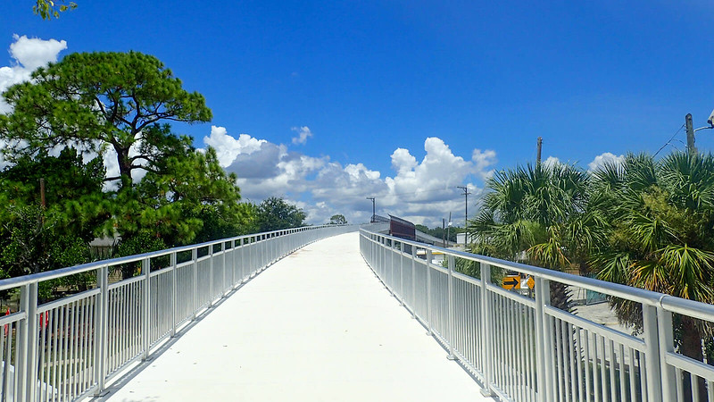Garden Street Bridge from bicyclist point of view