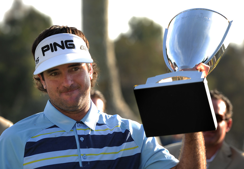 . Bubba Watson won the 2014 Northern Trust Open. Pacific Palisades, CA. February 16, 2014 (Photo by John McCoy / Los Angeles Daily News)
