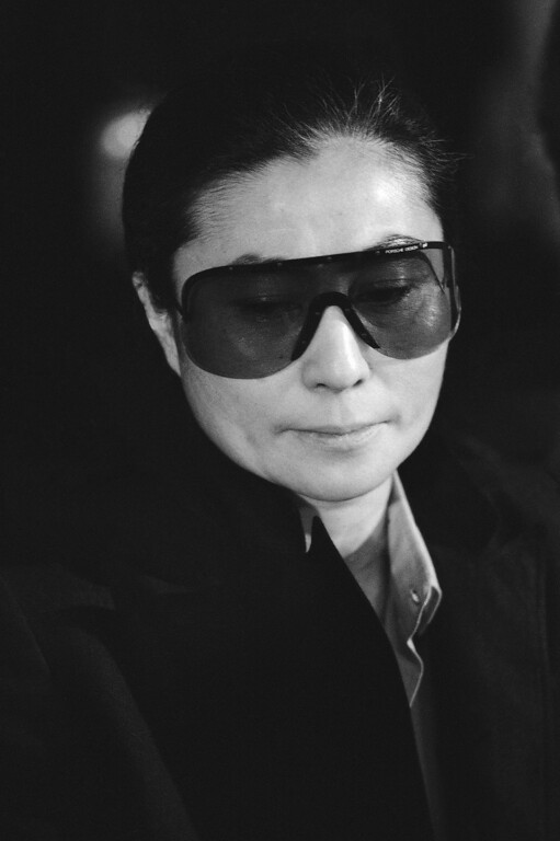 """. Yoko Ono accepted a cultural award for her late husband, John Lennon, from Mayor Ed Koch in New York on Friday, May 22, 1981 and said the city \""""was our town and still is.\""""  (AP Photo)"""
