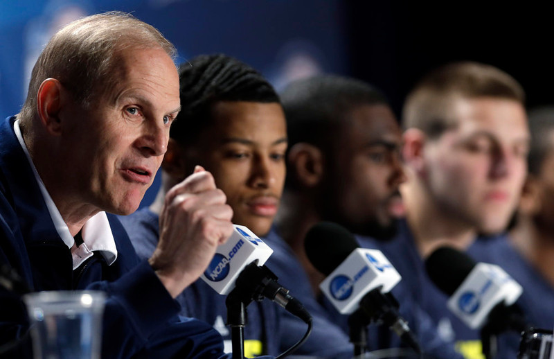 . Michigan head coach John Beilein speaks during a news conference for their NCAA Final Four tournament college basketball game Sunday, April 7, 2013, in Atlanta. Michigan plays Louisville in the championship game on Monday. (AP Photo/David J. Phillip)