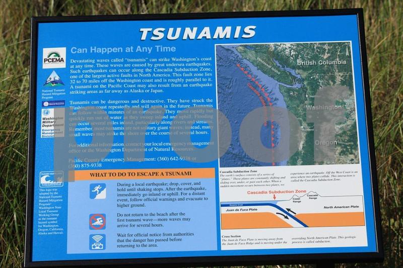 tsunami warning sign, WA coast