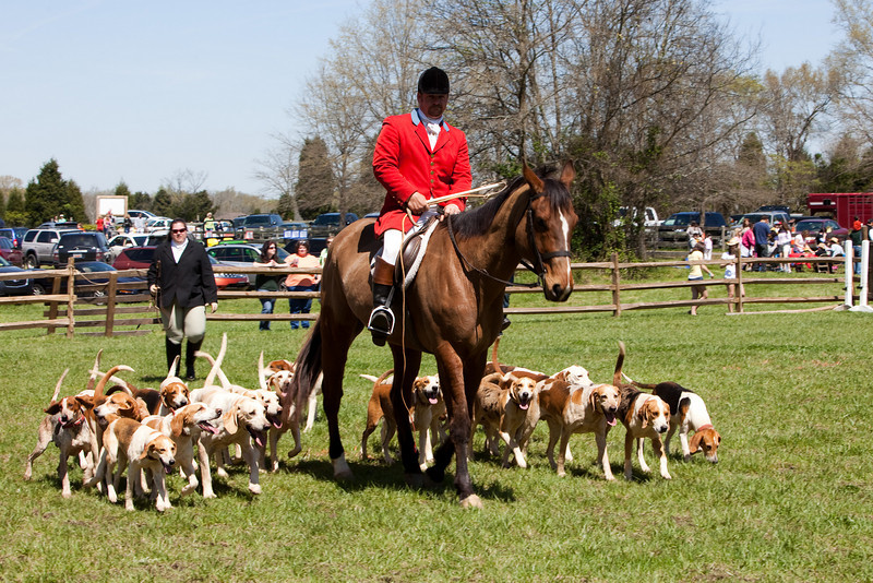 Doug Russell - Huntsman with the Mecklenburg  Hounds performs as demo at the 2009 Mares event.  http://www.mecklenburghoundsinc.com