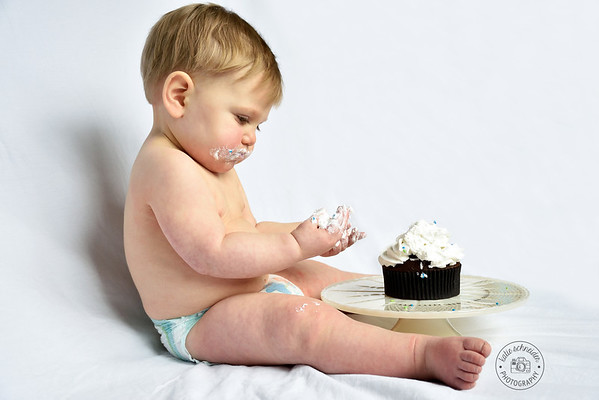 Simple Smash Cake with a Cupcake