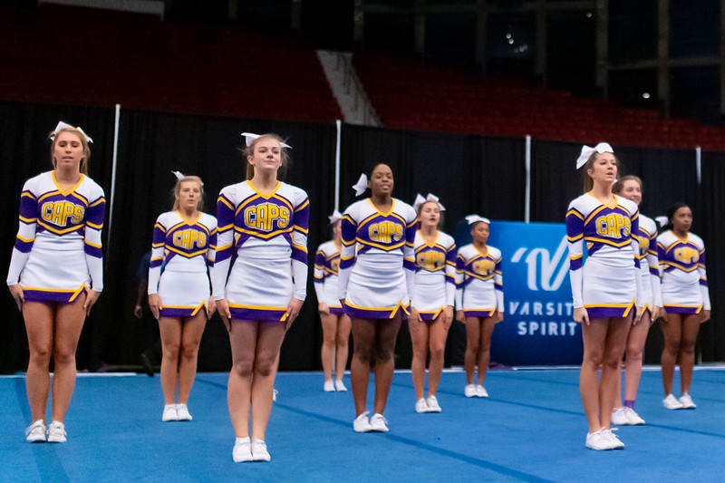 Broughton cheerleading Pre-States. November 16, 2019. D4S_1779