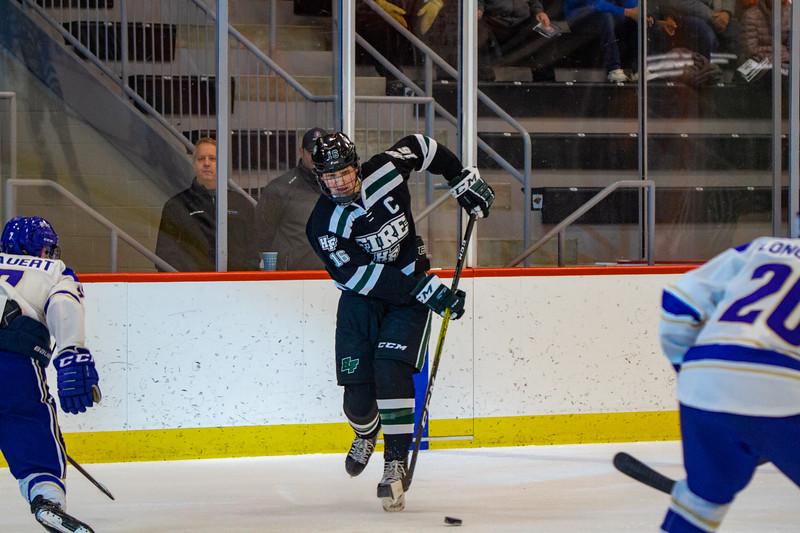 Holy Family Boys Varsity Hockey vs. Academy of Holy Angels, 12/21/19: Lucas Jorgenson '20 (16)