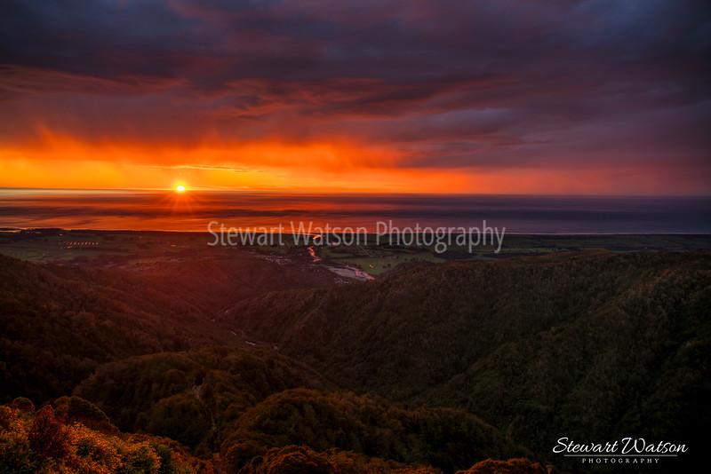Denniston Coal mind sunset darker