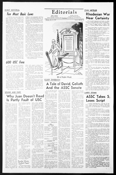 Daily Trojan, Vol. 57, No. 56, December 13, 1965