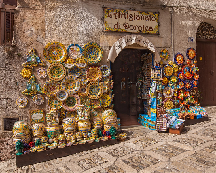 Colorful Ceramics , Erice , Sicily