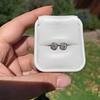 1.70ctw Old European Cut Diamond Clover Stud Earrings, GIA H-I SI 32