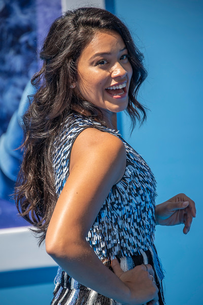 WESTWOOD, CA - SEPTEMBER 22: Gina Rodriguez arrives at the Premiere Of Warner Bros. Pictures' 'Smallfoot' at Regency Village Theatre on Saturday, September 22, 2018 in Westwood, California. (Photo by Tom Sorensen/Moovieboy Pictures)