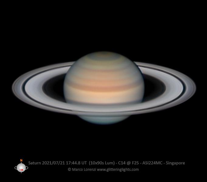 Saturn on July 21, 2021