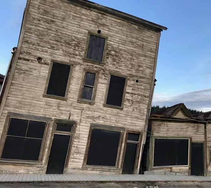 THE KISSING BUILDINGS, DAWSON, YT