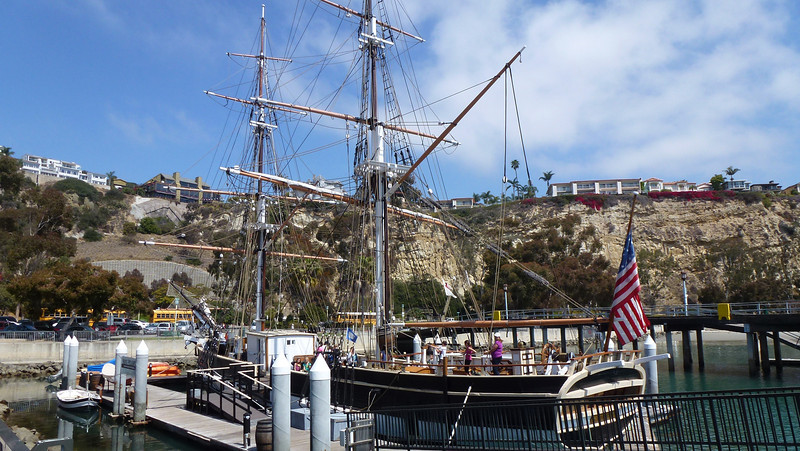 A replica of the Pilgrim (the ship Richard Henry Dana Jr sailed)