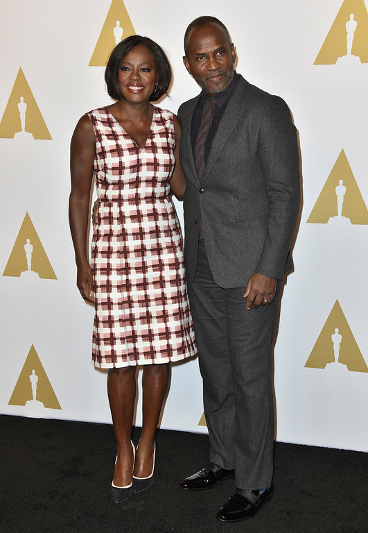 . Viola Davis, left, and Julius Tennon arrive at the 89th Academy Awards Nominees Luncheon at The Beverly Hilton Hotel on Monday, Feb. 6, 2017, in Beverly Hills, Calif. (Photo by Jordan Strauss/Invision/AP)
