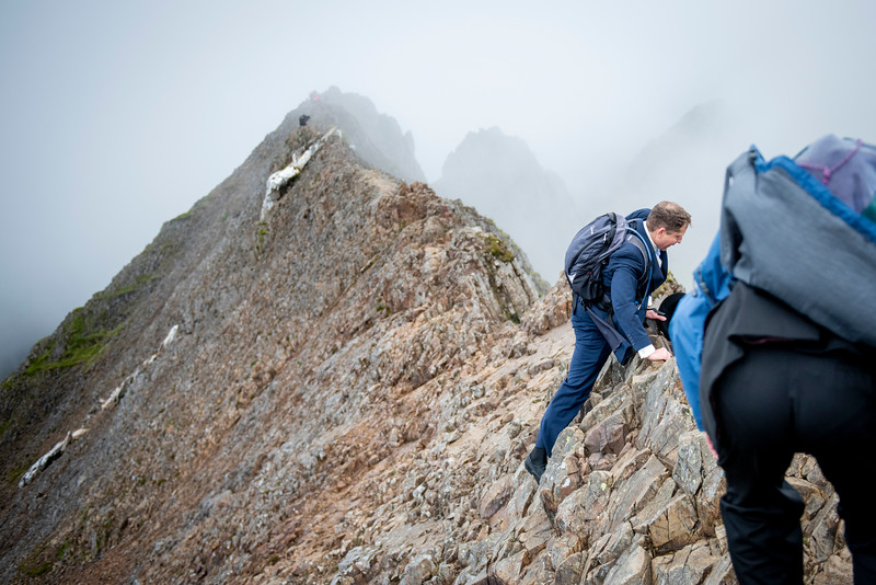 Now it was just the simple matter of traversing the ridge to Mt Snowdon to meet up with Jasmijn's party