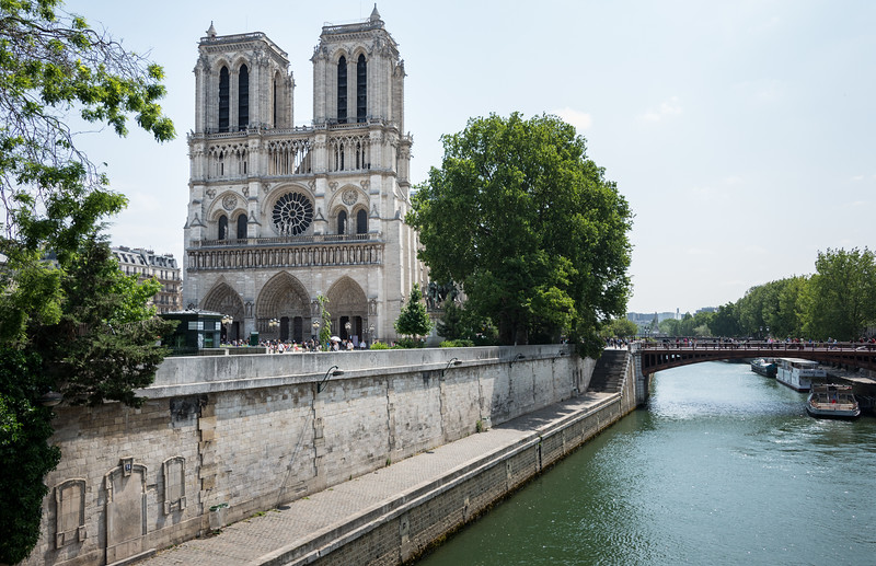 Notre-Dame de Paris probably needs no introduction!  Construction began in 1163 and took ~180 years.  Below is a link to her history.