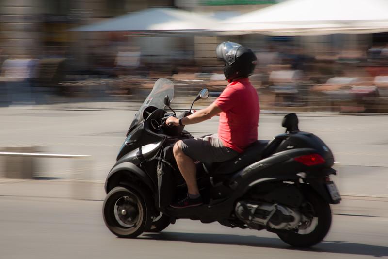 Motorbike on the Place des Terreaux
