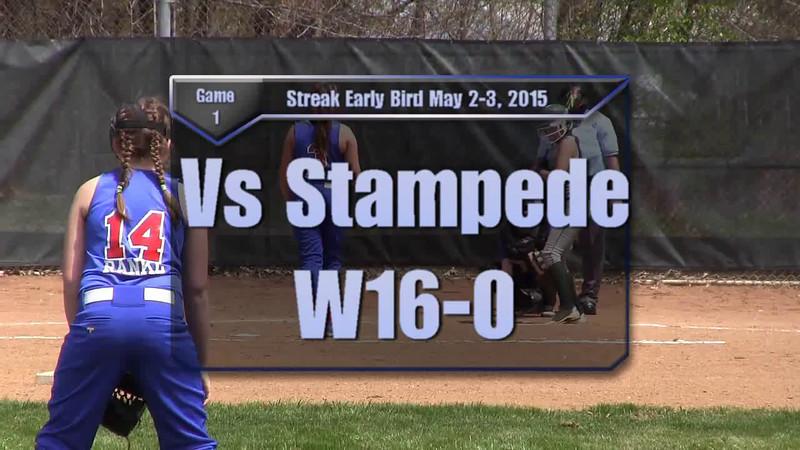 Streak Early Bird May2-3, 2015 Game 1 vs Stampede W16-0.wmv